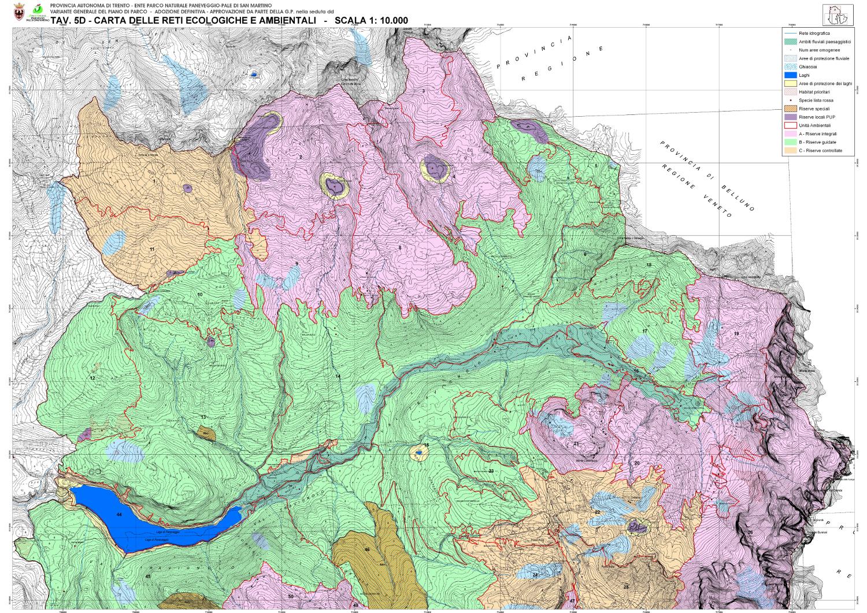 Cartina 5d.Il Piano Del Parco E I Regolamenti Parco Naturale Paneveggio Pale Di San Martino