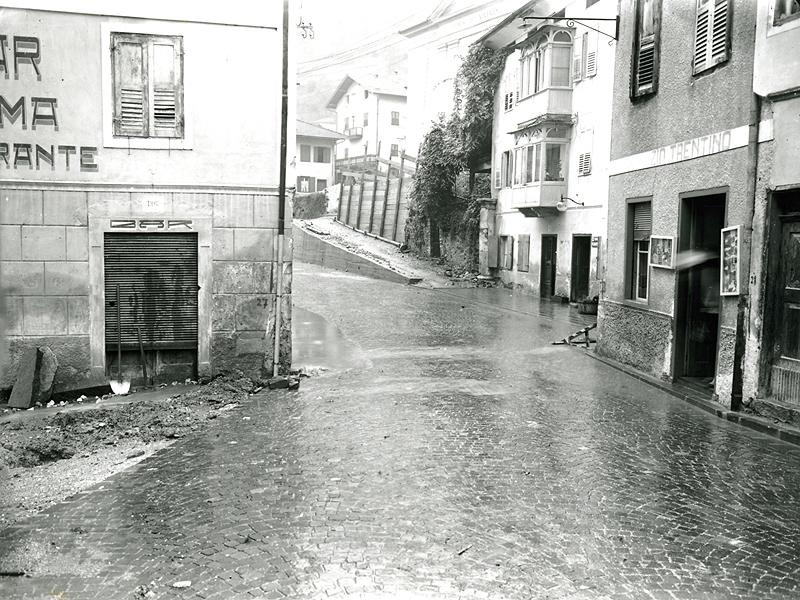 Canal San Bovo durante l'alluvione del 1966
