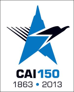 Logo dei 150 anni del CAI