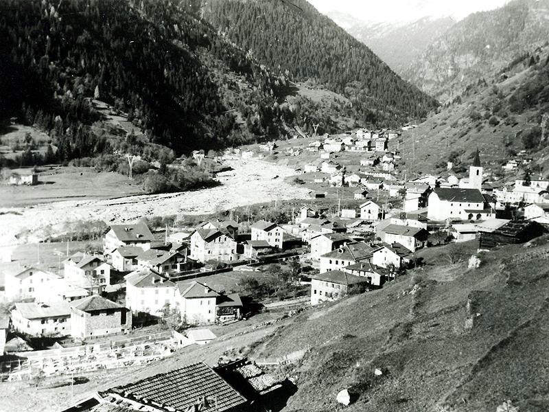 Caoria Losi e Ghiaie dopo l'alluvione del 1966