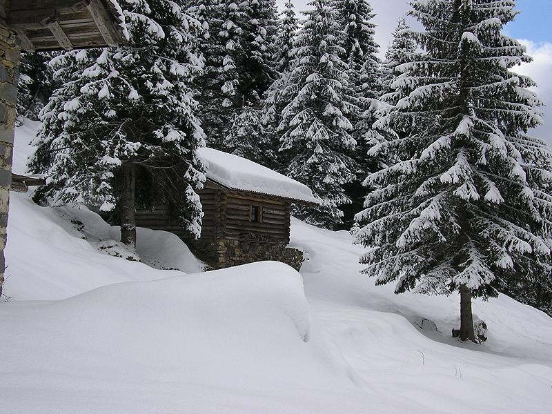 Casere sotto la neve