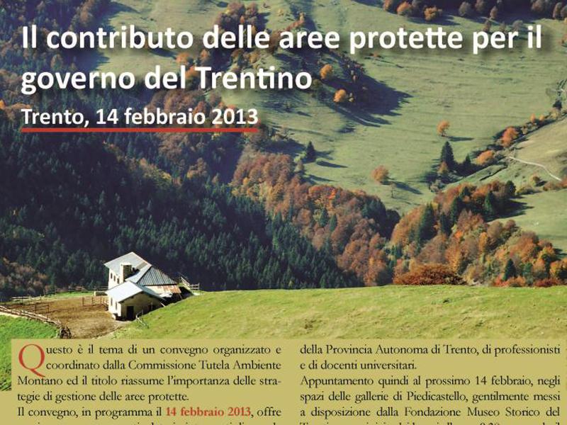 Il contributo delle aree protette per il governo del Trentino