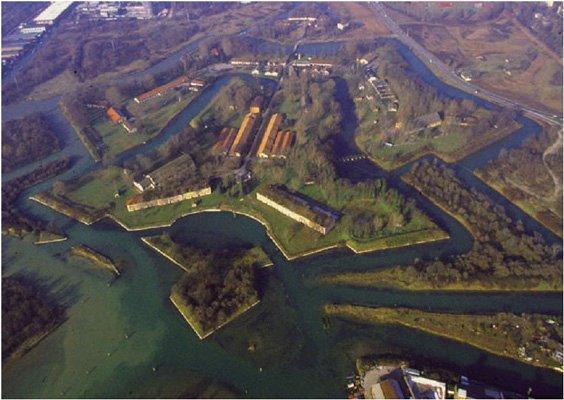 Forte Marghera che affaccia sulla laguna