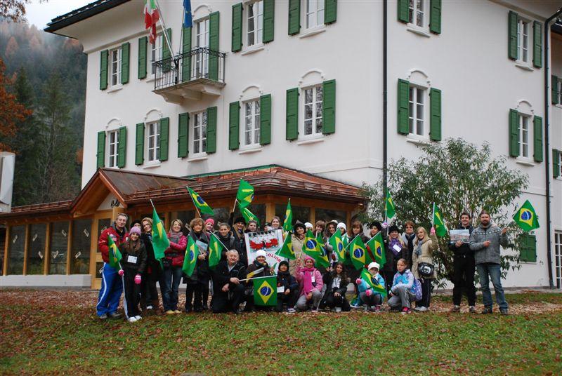 I ragazzi di Rio dos Cedros in visita a Villa Welsperg