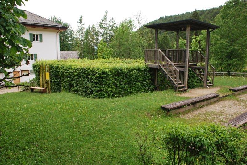 Il labirinto nel giardino della Villa