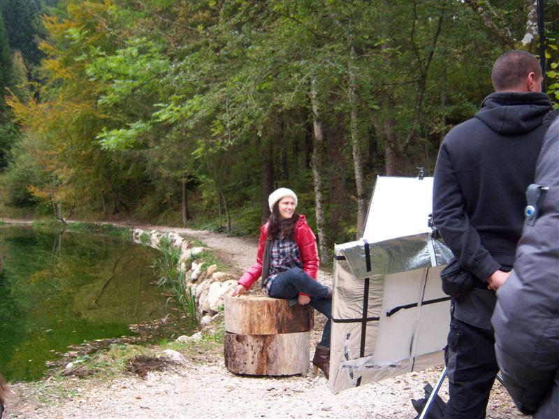 La cantautrice Elisa in Val Canali
