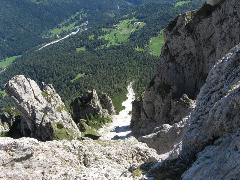 Panorama dal Cimerlo verso la salita del Sentiero Buzzati