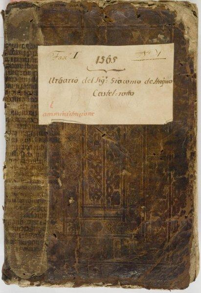 La copertina del manoscritto