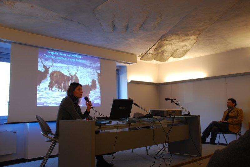 La dott.ssa Anna Bocci dell'Università di Siena presenta i dati dei rilievi telemetrici