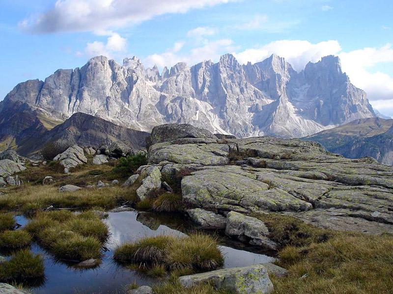 Le Pale di San Martino viste dal Lagorai
