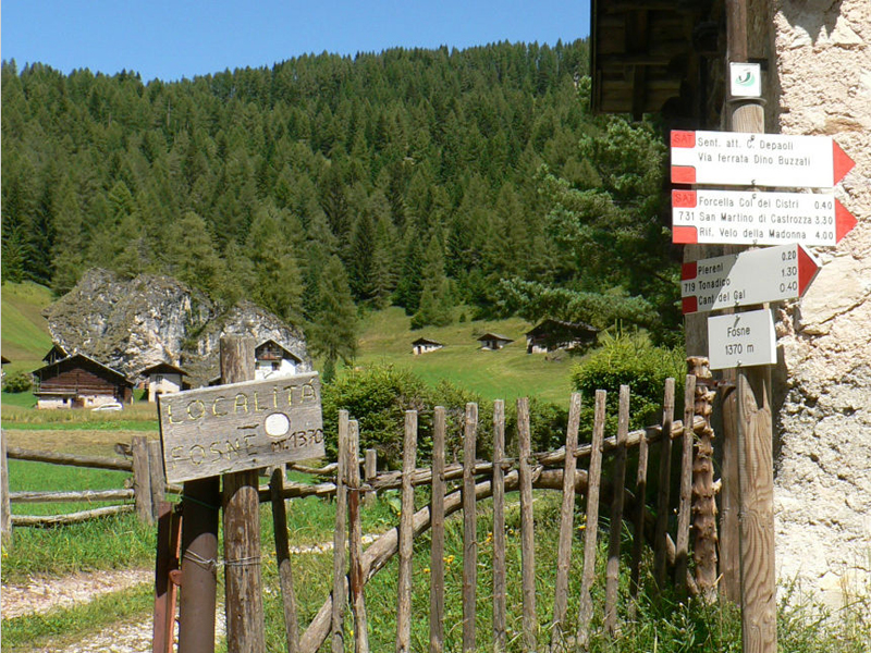 Località Fosna salendo verso i Sentiero Buzzati