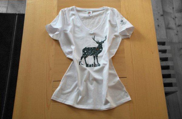 Maglietta bianca cervo 2015