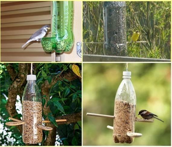 Mangiatoie con bottiglie (foto da web)