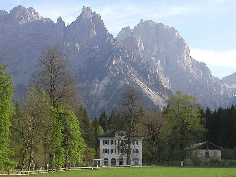 Villa Welsperg con davanti il tiglio di Milena la cesena