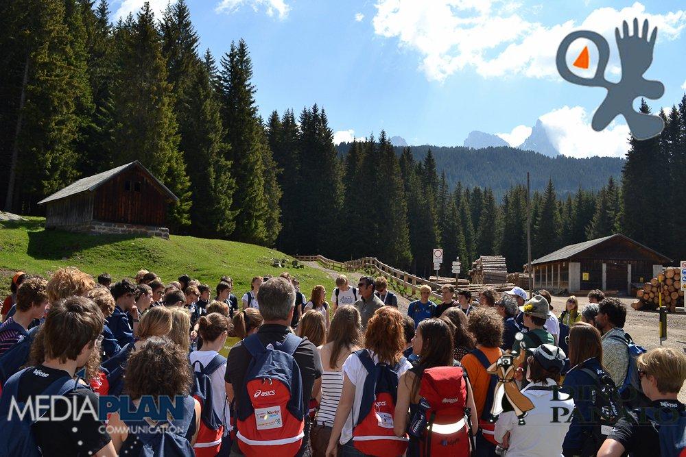 Gli atleti di Orienteering, in visita a Paneveggio