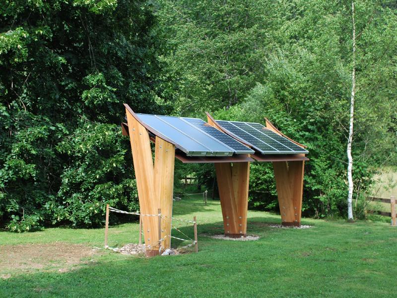 Particolare del fotovoltaico e del termico solare