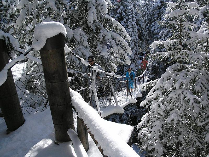Ponte sospeso inverno