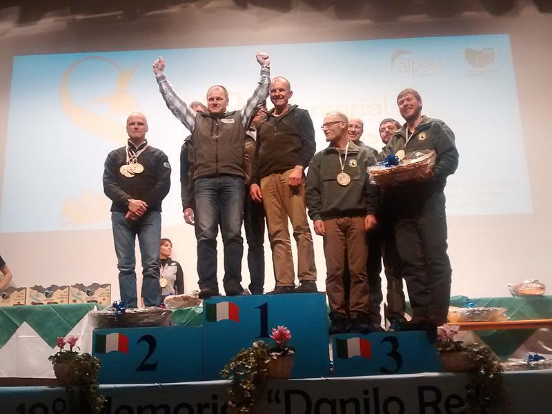 Premiazione, al secondo posto sul podio il Presidente del Parco Giacobbe Zortea