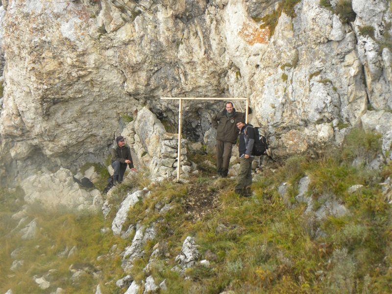 Preparazione della trappola per la cattura di esemplari di camoscio