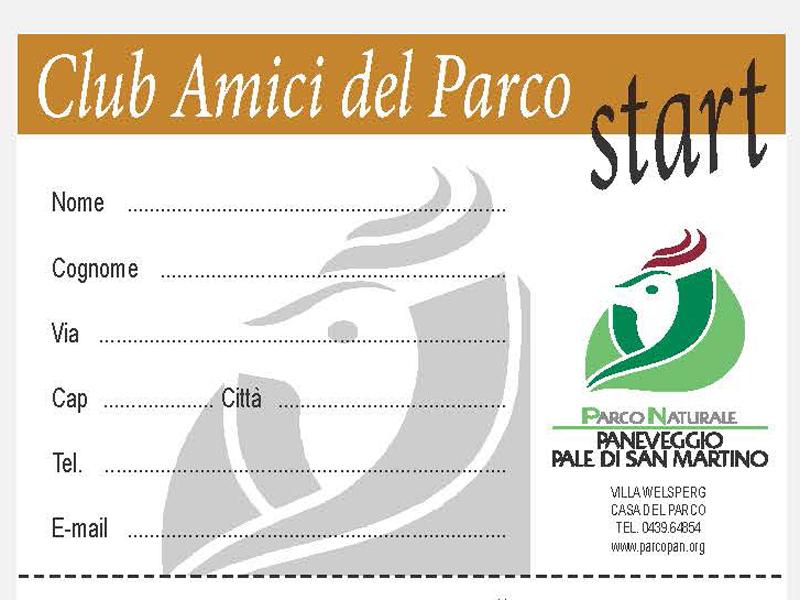 Tessere Amici del Parco 2015 start