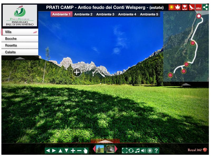 Tour virtuale del Parco Naturale Paneveggio Pale di San Martino