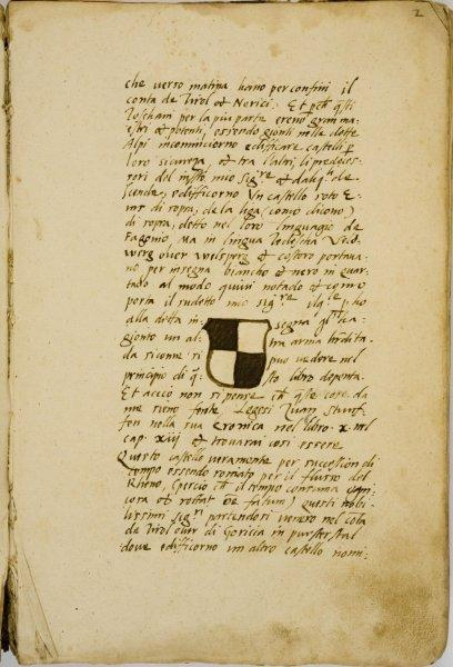 Una pagina del manoscritto