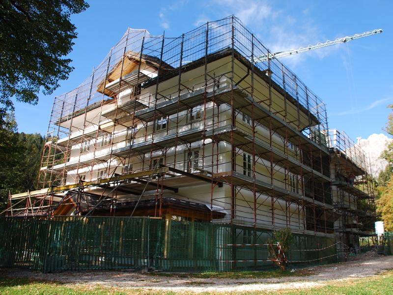 Villa Welsperg durante i lavori