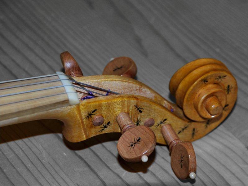Violino donato da Romano Doff Sotta al Parco