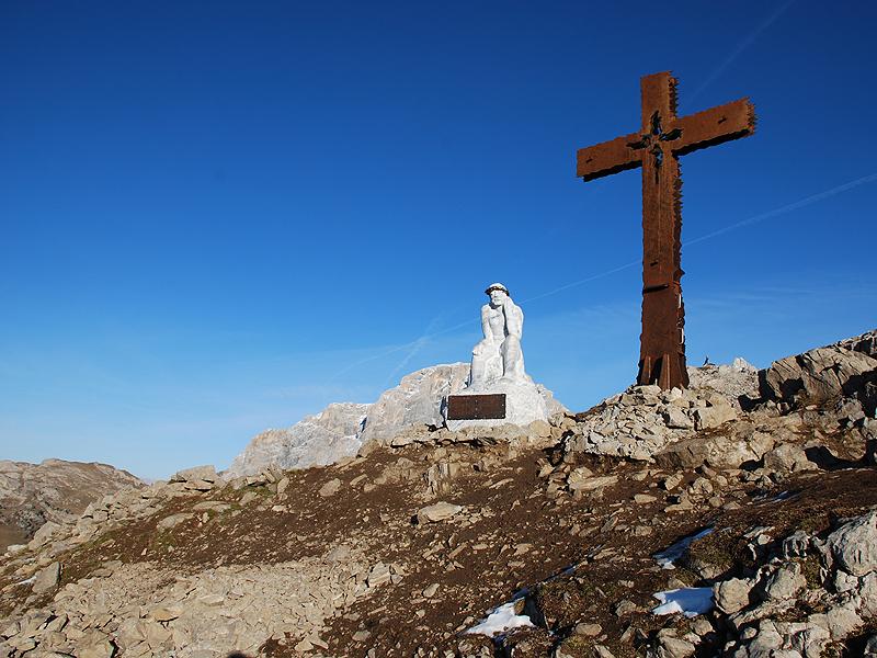 Zona ad altissimo indice di erosione nei dintorni del Cristo Pensante