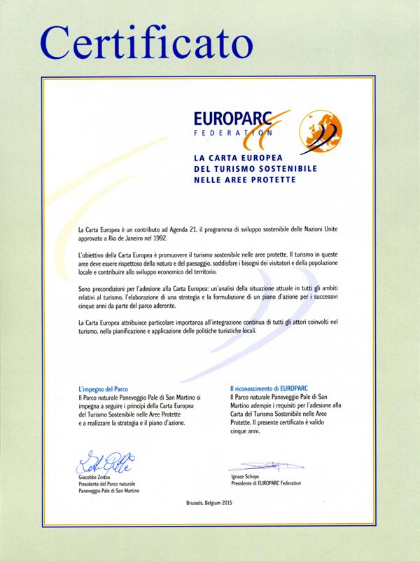 Certificato CETS