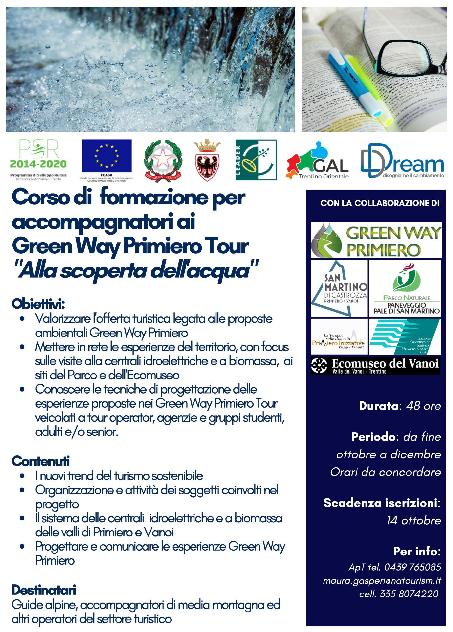 Locandina definitiva per Corso accompagnatori GWP Tour