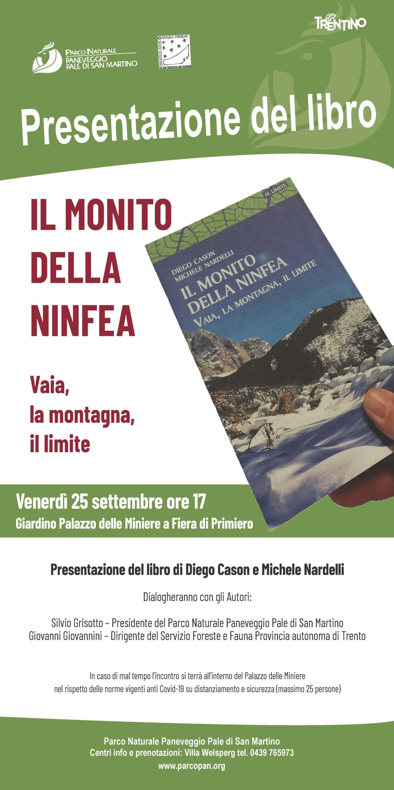 Locandina presentazione IL MONITO DELLA NINFEA settembre 2020