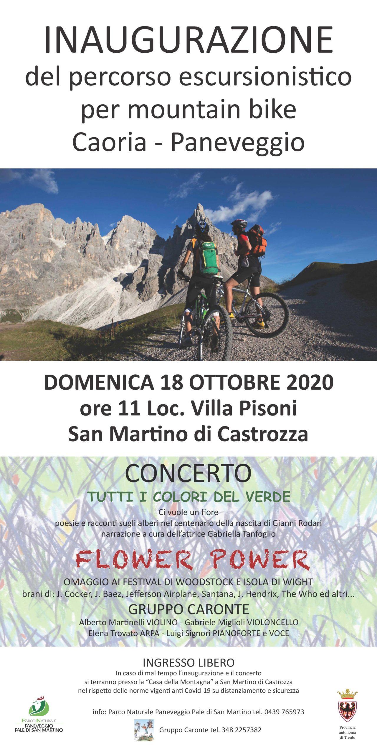 Locandina inaugurazione bike orti forestali fosse di sopra ottobre 2020 cinque